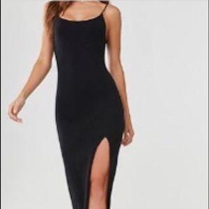 Black bodycon cami dress